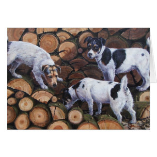 Dogs and Logs Card