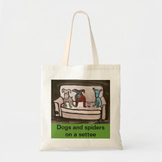 Dogs and spiders on a settee Bag