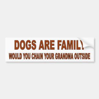DOGS ARE FAMILY CAR BUMPER STICKER
