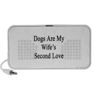 Dogs Are My Wife s Second Love Portable Speaker