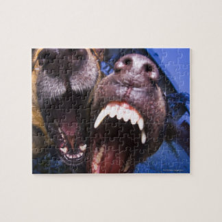 Dogs barking jigsaw puzzle