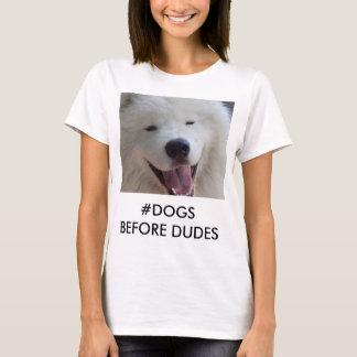 DOGS BEFORE DUDES Samoyed dog T-shirt photo
