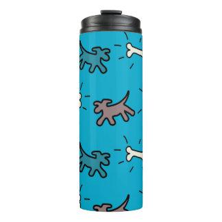 Dogs Bones Graffiti Style Blue Thermal Trumbler Thermal Tumbler