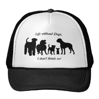 Dogs breed group black silhouette hat, cap, gift