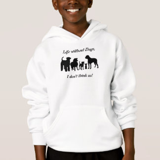 Dogs breed group black silhouette kids t-shirt