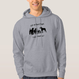 Dogs breed group black silhouette unisex hoody