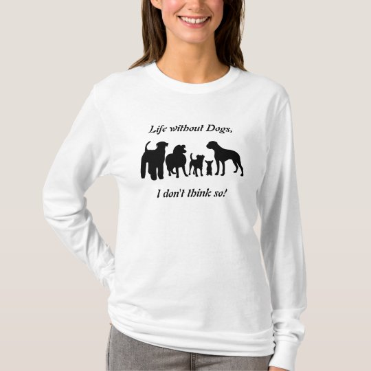 Dogs breed group black wilhouette womens t-shirt