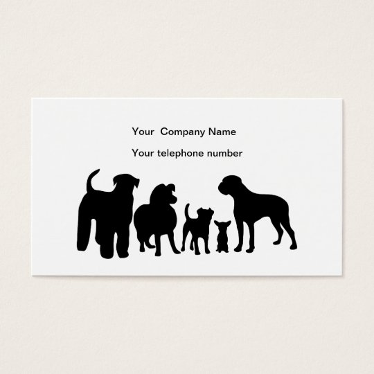 Dogs breed group silhouette custom business card