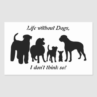 Dogs breed silhouette group black stickers