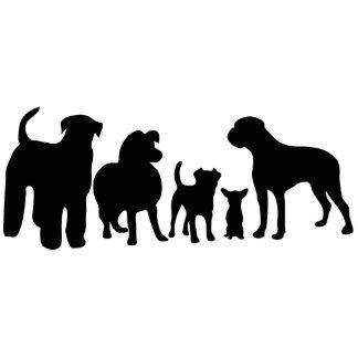 Dogs breeds group black silhouette sculpture standing photo sculpture