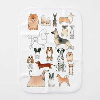 Dogs Burp Cloth