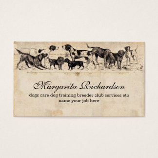 dogs business cards