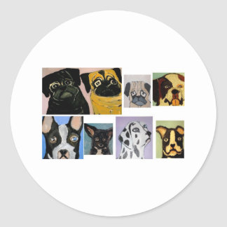 dogs by eric ginsburg round sticker