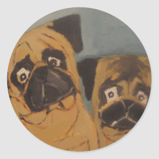 dogs by eric ginsburg round stickers