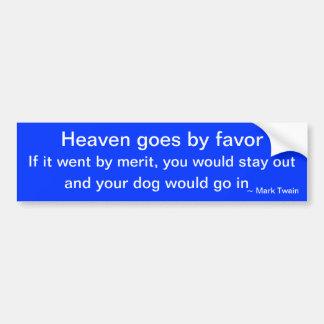Dogs by Mark Twain Bumper Sticker