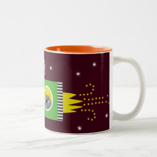 Dogs & Cat in Space Mugs