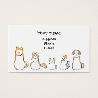 Dogs & Cats Business Card