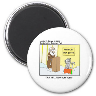 Dogs Cats Heaven Funny Cartoon Gifts Tees Fridge Magnets