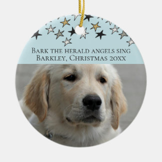 Dogs Christmas Personalized Photo Template Christmas Ornament