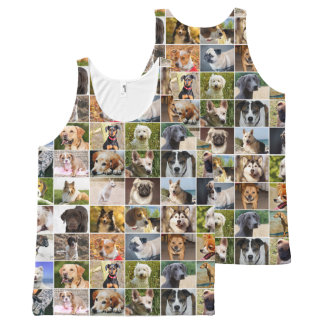 Dogs Collage All-Over Print Tank Top
