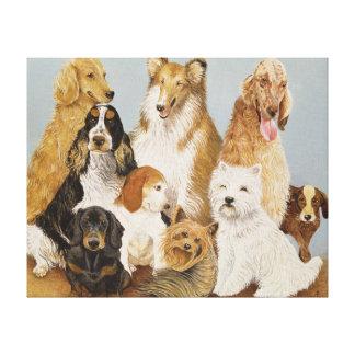 Dogs' Dinner Canvas Print