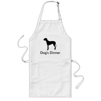Dog's Dinner - great dane silhouette apron