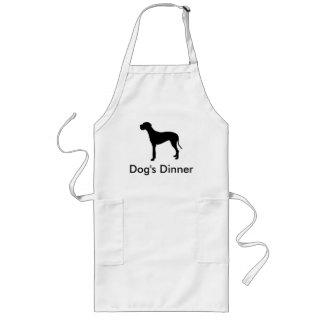 Dog's Dinner - great dane silhouette apron
