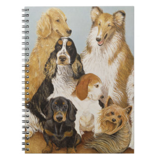 Dogs' Dinner Spiral Note Books