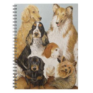 Dogs' Dinner Spiral Notebook