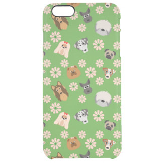 Dogs & Flowers Clear iPhone 6 Plus Case