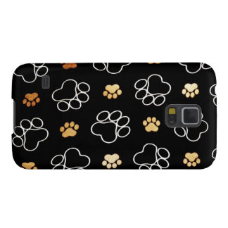 Dogs footsteps patterns galaxy s5 covers