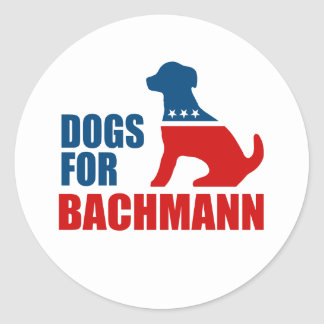 DOGS FOR MICHELE BACHMANN STICKER