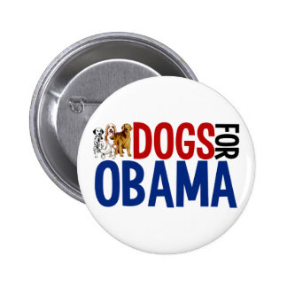 Dogs for Obama 6 Cm Round Badge