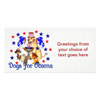 DOGS FOR OBAMA CUSTOM PHOTO CARD