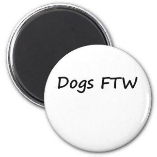 Dogs FTW 6 Cm Round Magnet