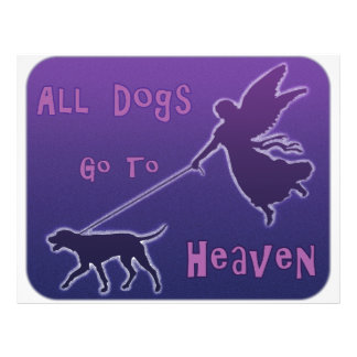 Dogs Go To Heaven 21.5 Cm X 28 Cm Flyer
