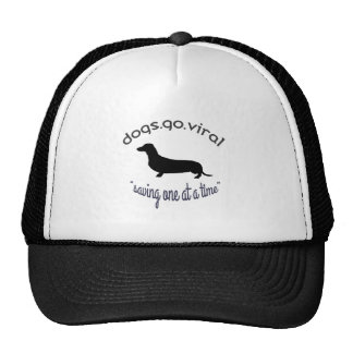 """dogs.go.viral """"Saving One At A Time"""" Trucker Hat"""