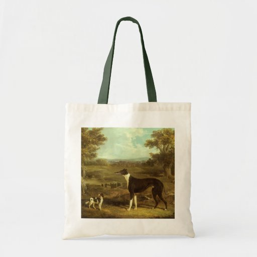 Dogs, Greyhound and Spaniel; Doctor Fop by Herring Canvas Bags