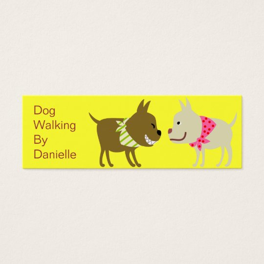 Dogs in Bandanna- Pet Care Business Mini Business Card