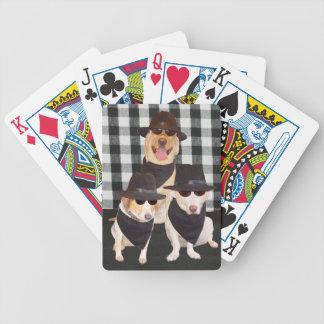 Dogs in Black Poker Cards
