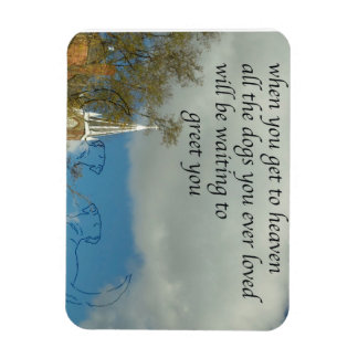 Dogs in Heaven Rectangular Photo Magnet