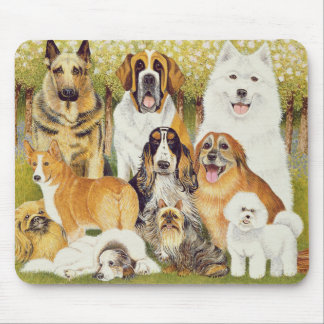 Dogs in May Mouse Mat