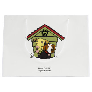 Dogs in original logo large gift bag