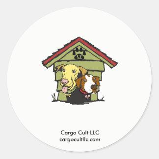 Dogs in original logo round sticker