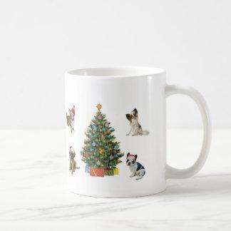 Dogs In Santa Hats Coffee Mug