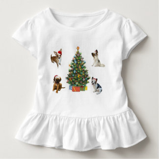 Dogs In Santa Hats Toddler T-Shirt