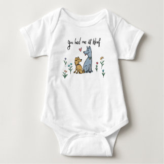 Dogs in the Garden III | You Had Me At Woof Baby Bodysuit