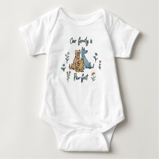 Dogs in the Garden IV | Our Family Is Paw-fect Baby Bodysuit