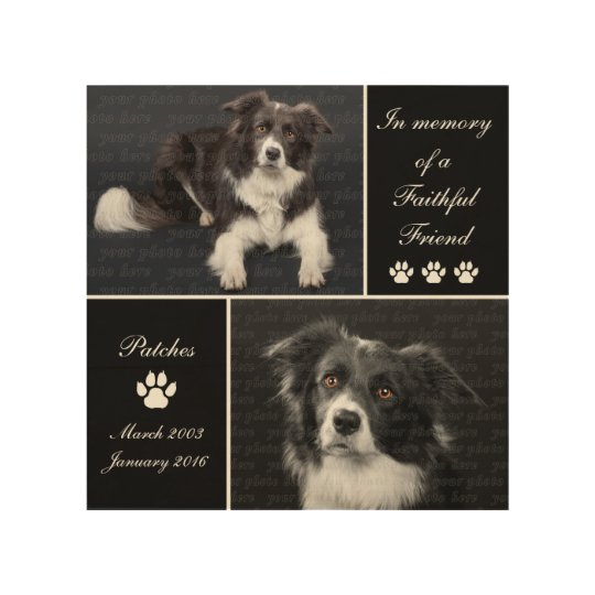 Dogs: Keepsake Dog Memorial Sympathy Tribute Wood Wall