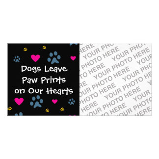Dogs Leave Paw Prints on Our Hearts Photo Card Template